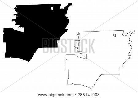 Toledo City (united States Cities, United States Of America, Usa City) Map Vector Illustration, Scri