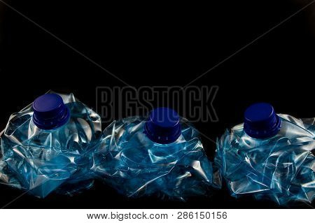 Plastic Five Litre Water Bottle Squashed Isolated