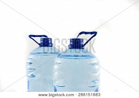 Plastic Five Litre Water Bottles Isolated