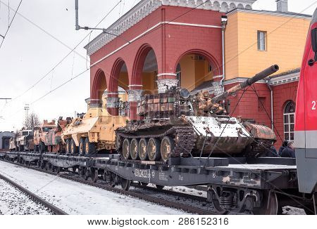 Oryol, Russia - February 25, 2019: Syrian Fracture Is Military History Action Of The Ministry Of Def