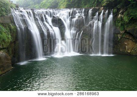The Shifen Waterfall In Pingxi, Taipei, Taiwan