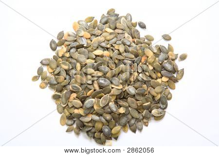 A Heap Of Pumpkin Seeds