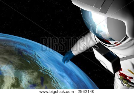 Astronaut Space Gaze