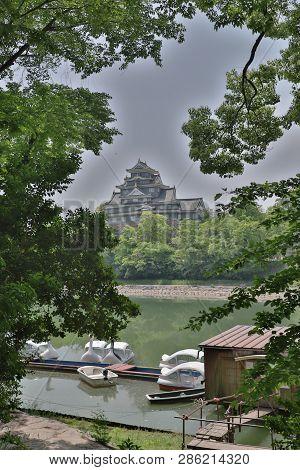 Okayama Castle And Canal In Okayama City.
