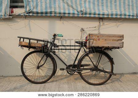 The Old Bike  Parking At Street Hk