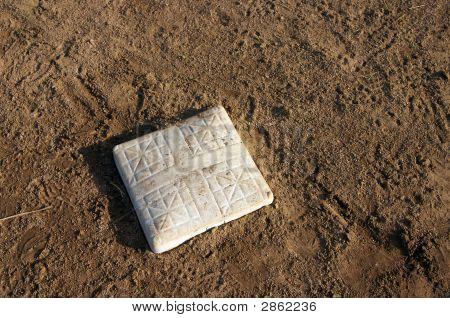 Baseball Base And Infield Dirt