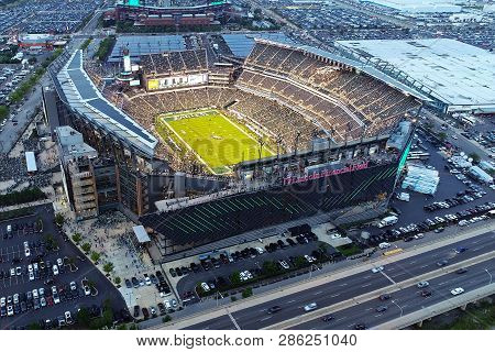 Philadelphia, Pa - September 06, 2018: Lincoln Financial Field, Home Of The Nfl Eagles, Located In T