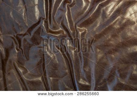 Leather With Corrugation Background Close Up Shot