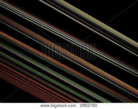 Optical Art Light Green Orange Lines Fractal