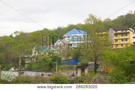Loo, Krasnodar Krai, Russia- April 18, 2015: Landscapes Of The Village In Early Spring. Loo Is One O