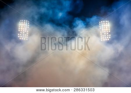 Stadium Lights And Smoke