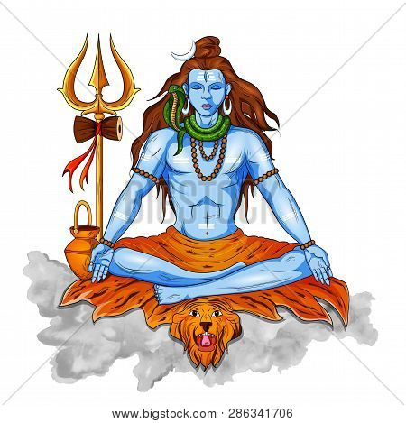 Lord Shiva, Indian God Of Hindu For Shivratri With Message Om Namah Shivaya Meaning I Bow To Shiva