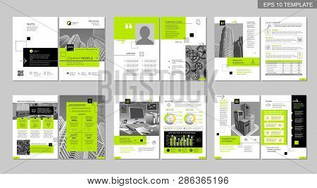 Brochure Creative Design. Multipurpose Template, Include Cover, Back And Inside Pages. Trendy Minima