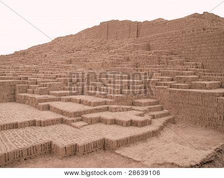 Ancient pre Inca pyramid in Lima