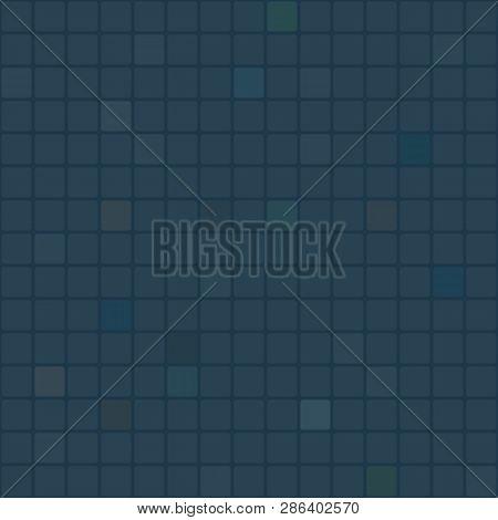 Seamless Dull Dark Blue Square Tile Pattern