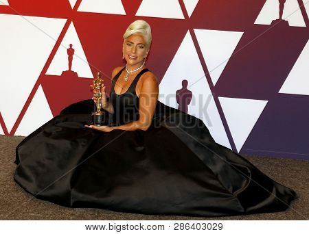 Lady Gaga at the 91st Annual Academy Awards - Press Room held at the Hollywood and Highland in Los Angeles, USA on February 24, 2019.