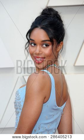 Laura Harrier at the 91st Annual Academy Awards held at the Hollywood and Highland in Los Angeles, USA on February 24, 2019.