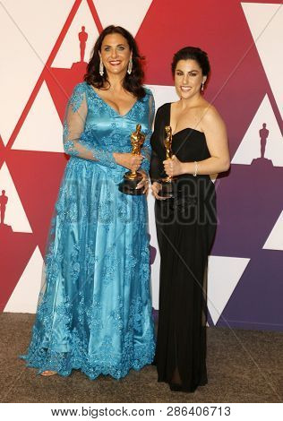 Melissa Berton and Rayka Zehtabchi at the 91st Annual Academy Awards - Press Room held at the Hollywood and Highland in Los Angeles, USA on February 24, 2019.