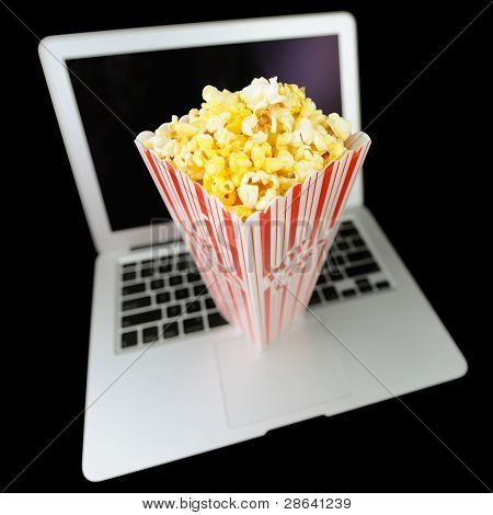 Watching Streaming Movies with Popcorn