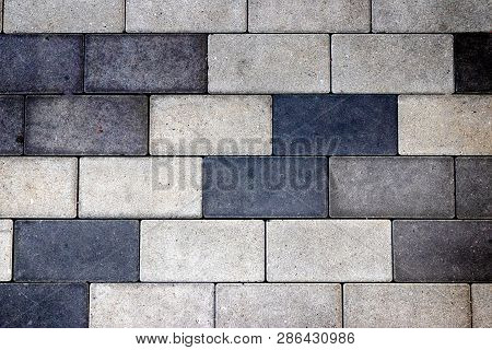 Stone Rock Brick Block Pattern Texture In Normal Light