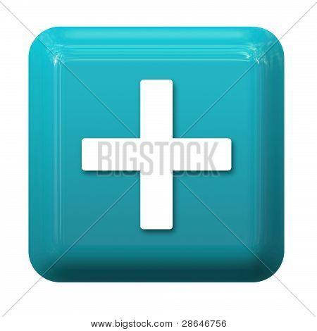 Blue plus button
