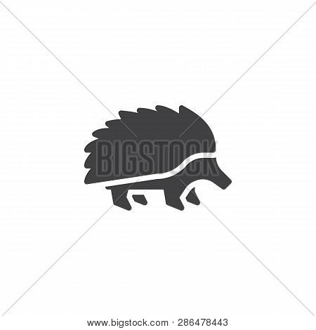 Porcupine Side View Vector Icon. Filled Flat Sign For Mobile Concept And Web Design. Porcupine Roden