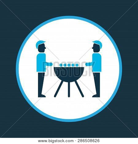 Team Entertainment Icon Colored Symbol. Premium Quality Isolated Foosball Element In Trendy Style.