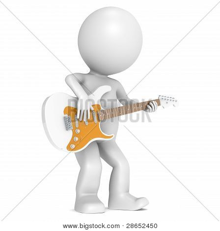 3D Little Human Character And His Strat