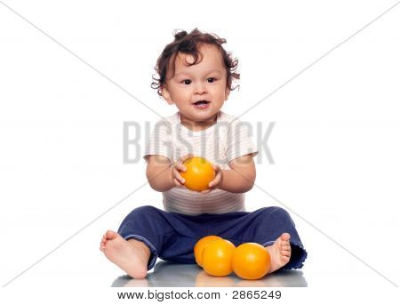 The Child With Oranges.