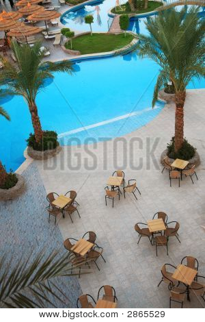 Swimming Pool With Cafe