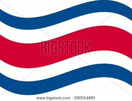 Costa Rican National Official Flag. Patriotic Symbol, Banner, Element, Background. Correct Colors. F