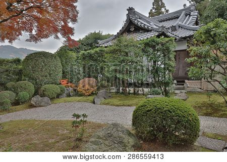 The Autumn In The Shinnyo Do Temple In Kyoto