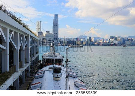The Hong Kong Harbour At Day Time 2017