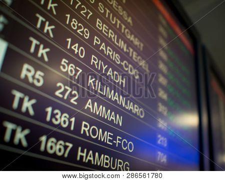Airport terminal screen