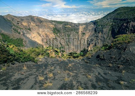 One of several craters of Irazu volcano in Costa Rica