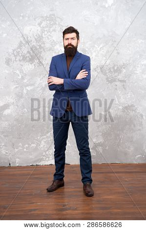 Be My Fashionista. Business Success. Mature Businessman. Bearded Man Hipster In Jacket. Male Fashion