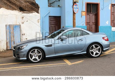 Gran Canaria, Spain - November 28, 2015: Parking Offence In Gran Canaria, Spain. This Incorrectly Pa