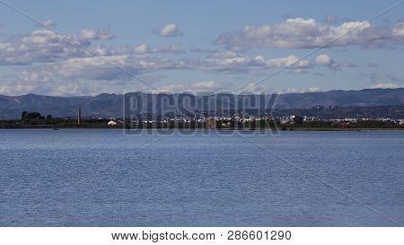Rice Field With Lot Of Water, Albufera Of Valencia, Spain