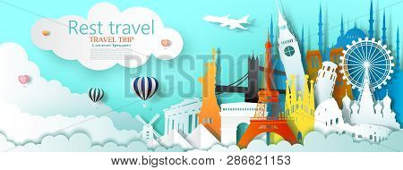 Travel Business Landmarks Tourism World Famous Architecture By Balloon, Tour Culture Landmark World