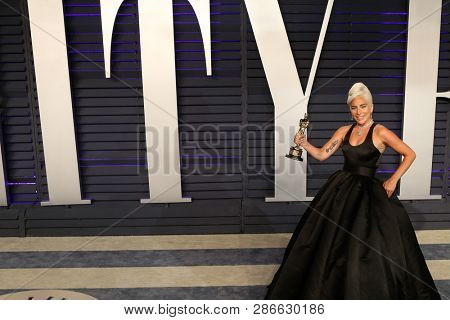 LOS ANGELES - FEB 24:  Lady Gaga at the 2019 Vanity Fair Oscar Party on the Wallis Annenberg Center for the Performing Arts on February 24, 2019 in Beverly Hills,