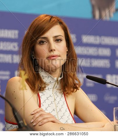 Natalia de Molina attends the press conference for the Netflix film 'Elisa Y Marcela'  during the 69th Berlinale Festival Berlin at Grand Hyatt Hotel on February 13,  2019 in Berlin, Germany.