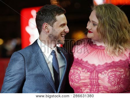 Jamie Bell and Danielle Macdonald attend the 'Skin' premiere during the 69th Berlinale International Film Festival Berlin at Zoo Palast on February 11, 2019 in Berlin, Germany.