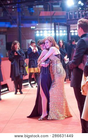 Natalia de Molina and Greta Fernandez attend the 'Elisa Y Marcela' (Elisa und Marcela) premiere during the 69th Berlinale Festival Berlin at Berlinale Palace on February 13, 2019 in Berlin, Germany.