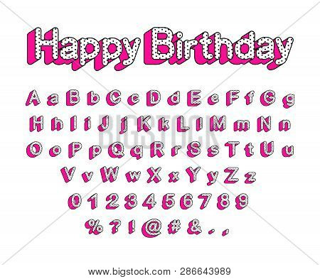 Cute 3d Letters Of The English Alphabet, Uppercase And Lowercase. Lol Girly Doll Surprise Style. Let