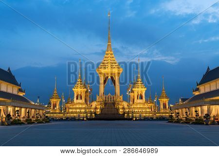 Royal Crematorium For The Royal Cremation Of His Majesty King Bhumibol Adulyadej In Bangkok, Thailan