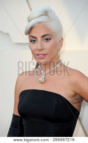 Lady Gaga at the 91st Annual Academy Awards held at the Hollywood and Highland in Los Angeles, USA on February 24, 2019.