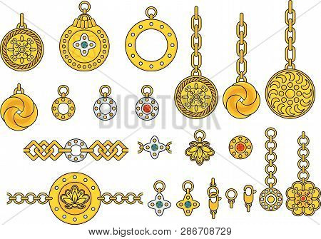 Trendy Pendant With Chains, Pendants, Straps And Ropes