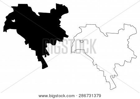 Kiev City (administrative Divisions Of Ukraine, City With Special Status) Map Vector Illustration, S