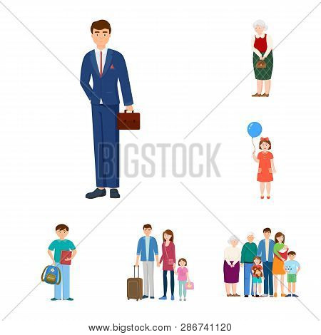 Isolated Object Of Family  And People Icon. Collection Of Family  And Avatar  Stock Vector Illustrat