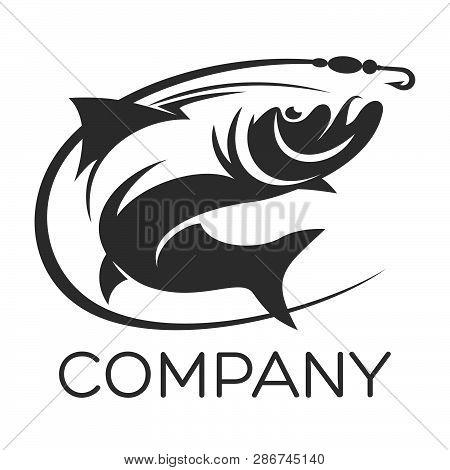 Modern Fish Example As A Logo. Vector Illustration.